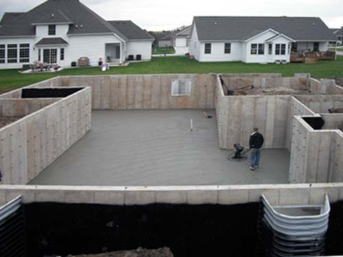 Concrete Poured Block Foundation